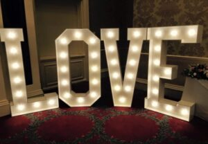 Giant LED Letters Gisborough Hall