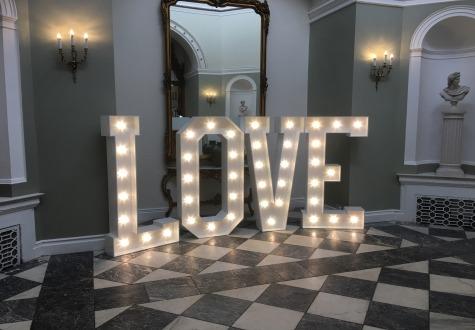 Giant LED Letters Lartington Hall Bernard Castle