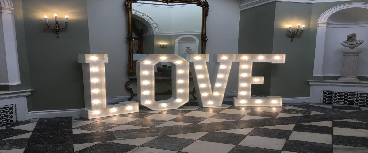 Lartington Hall LOVE letters