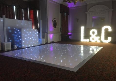 Starlit LED Dance Floor Crathorne Hall Yarm