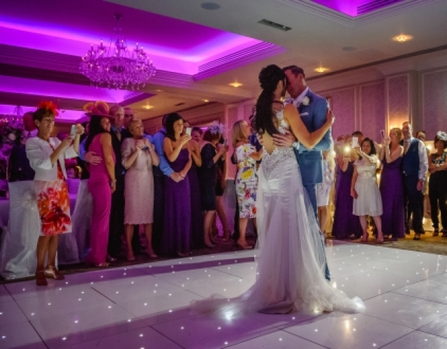 Starlit LED Dance Floor & DJ Rockliffe Hall Darlington