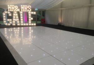 Starlit LED Dance Floor Ormesby Hall Middlesbrough