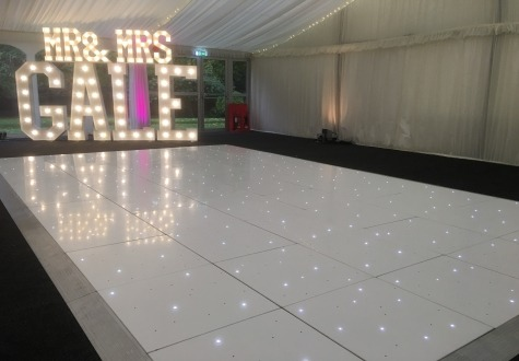 Starlit LED Dance Floor Hire Middlesbrough