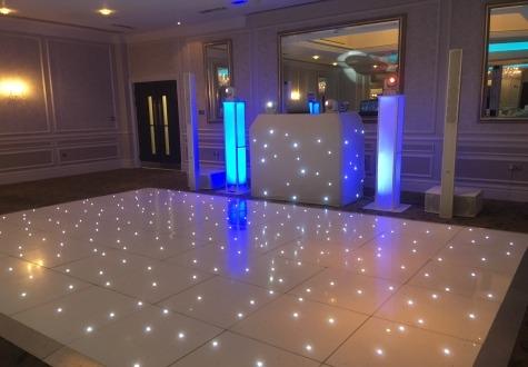 White Twinkly LED Dance Floor Rockliffe Hall Darlington