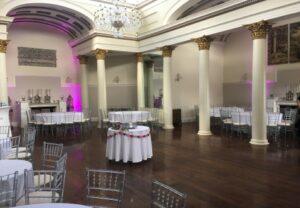 Uplighting Lartington Hall