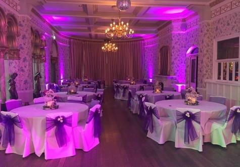 White Twinkly LED Dance Floor Rushpool Hall Saltburn
