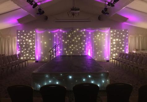 Wynyard Marquee Dressing Wedding Backdrop