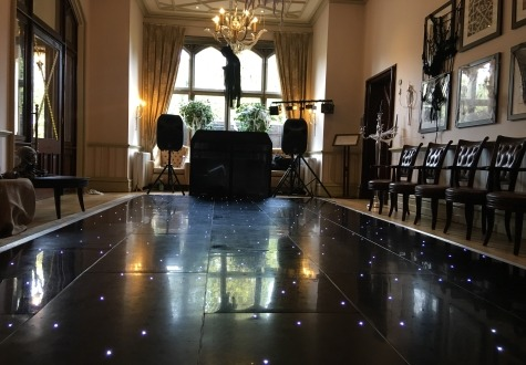 Black Starlit LED Twinkly Dance Floor Middlesbrough