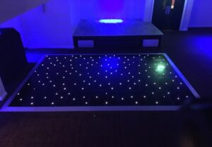 Black Starlit LED Dance Floors Darlington & Durham