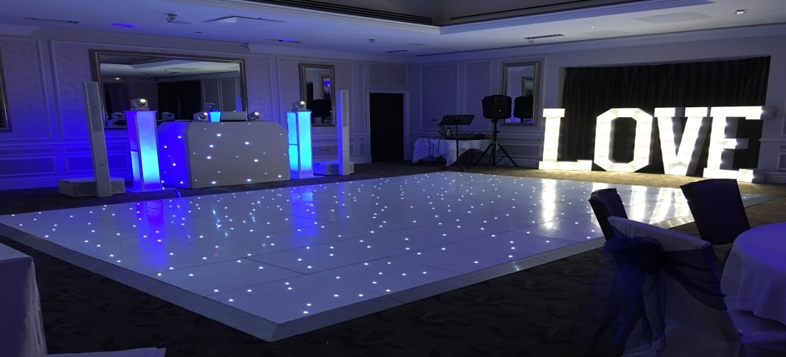 Starlit LED Twinkling Dance Floor Hire Durham
