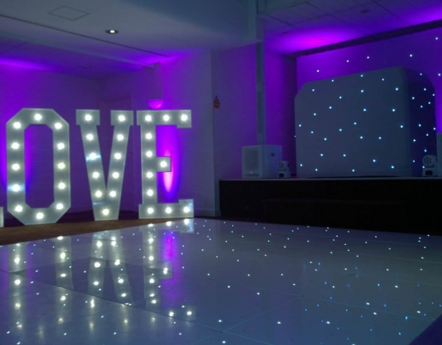 Starlit Twinkling LED Dance Floor Hire Middlesbrough