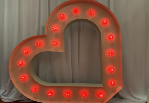Giant LED Heart Hire North East