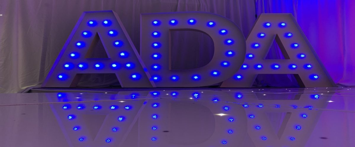 Giant LED Letters Hire Darlington