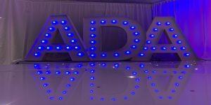 Giant LED Letters Hire Darlington