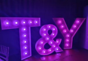 LED Letter Hire Middlesbrough